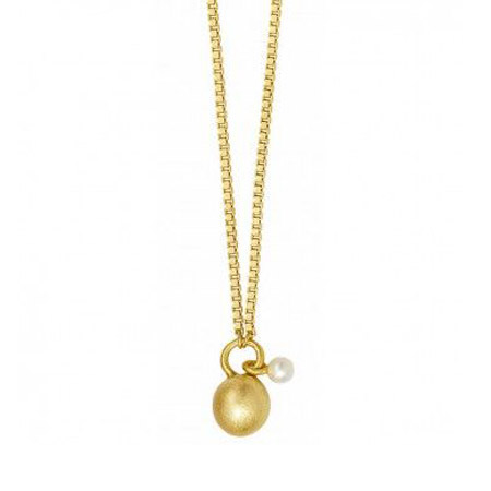 Sence Copenhagen Gold Plated Essentials Necklace with Pearl