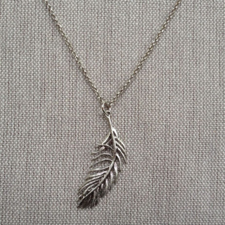 Hot Tomato Jewellery Silver Angel Feather Necklace