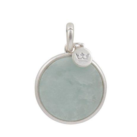 Sence Copenhagen Aquamarine with Silver Disc Charm Drop