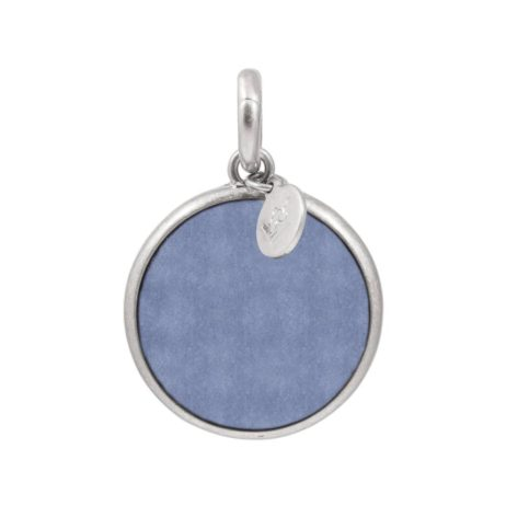 Sence Copenhagen Blue Aventurine with Silver Disc Charm Drop