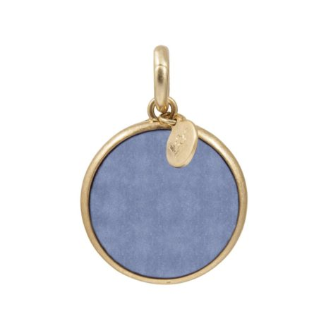 Sence Copenhagen Blue Aventurine with Gold Disc Charm Drop