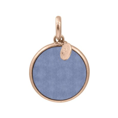 Sence Copenhagen Blue Aventurine with Rose Gold Disc Charm Drop - EOL