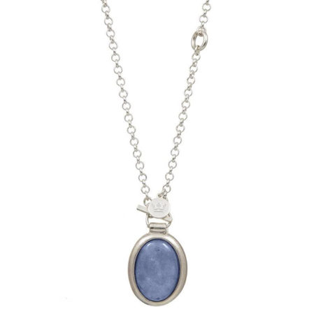 Sence Copenhagen Silver Balance Necklace with Blue Aventurine