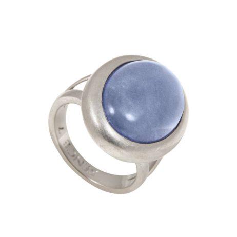 Sence Copenhagen Silver Balance Ring Blue with Aventurine