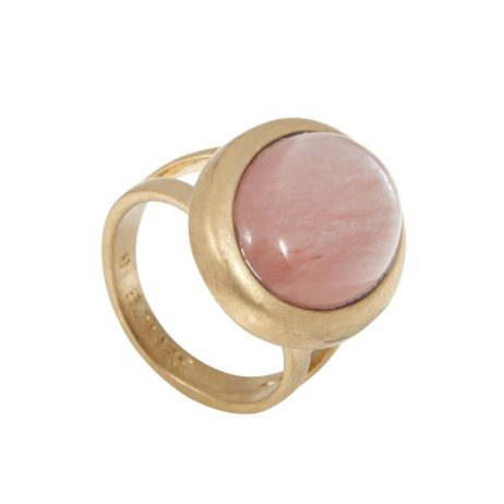 Sence Copenhagen Gold Balance Ring with Watermelon Stone