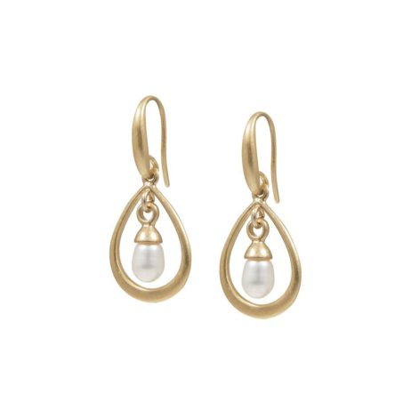 Sence Copenhagen Gold Joy Earrings with Freshwater Pearl