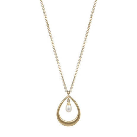 Sence Copenhagen Gold Joy Necklace with Freshwater Pearl