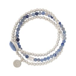 Sence Copenhagen Silver Explorer Bracelet with Blue Aventurine