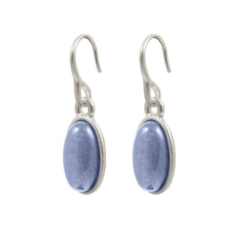 Sence Copenhagen Silver Explorer Earrings with Blue Aventurine