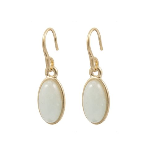 Sence Copenhagen Gold Explorer Earrings with Aquamarine