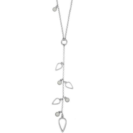 Sence Copenhagen Silver Summer Rain Necklace with Aquamarine Worn Silver