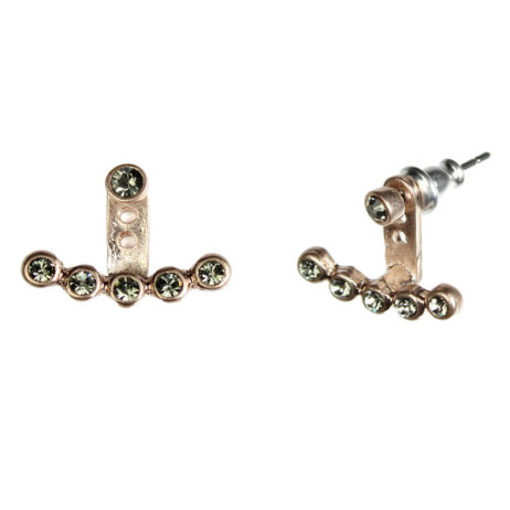 Hultquist Jewellery Rose Gold Crystal 2 in 1 Cuff Earrings