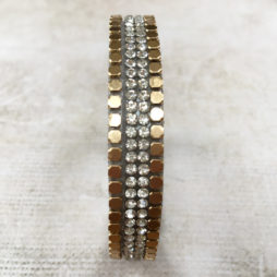 Hot Tomato Jewellery Gold and Silver Crystals Wrap Bracelet