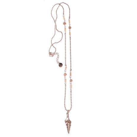 Hot Tomato Jewellery Silver Seashell Pendant Necklace