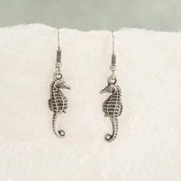 Danon Jewellery Silver Mini Seahorse Drop Earrings