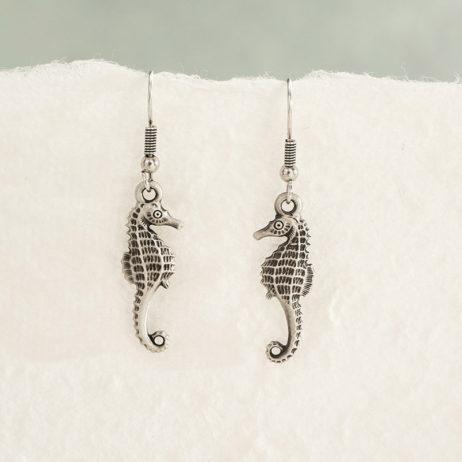 Danon Jewellery Silver Mini Seahorse Drop Earrings