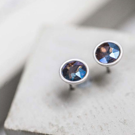Tutti and Co Jewellery Alexandrea Glass Stud Earrings
