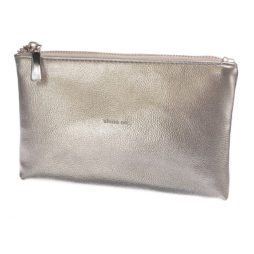 Hot Tomato Silver Shine On Clutch Bag