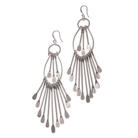 Hot Tomato Jewellery Silver Scirocco Statement Earrings