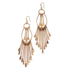 Hot Tomato Jewellery Gold Scirocco Statement Earrings