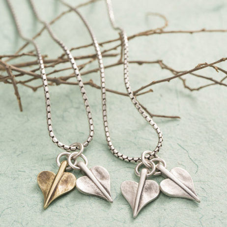 Double Mini Leaf of Love Necklace