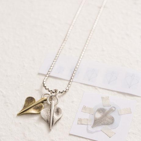 Danon Jewellery Double Mini Leaf of Love Necklace