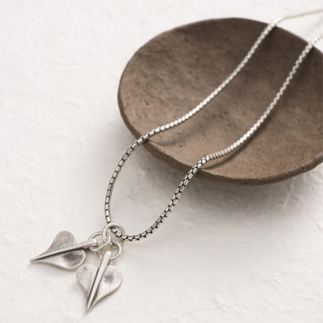 Danon Jewellery Double Mini Leaf of Love Necklace