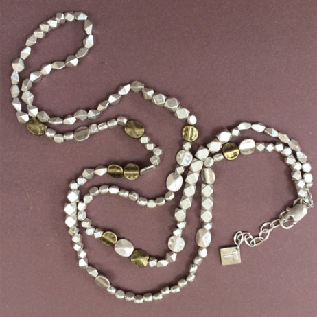 Tutti and Co Jewellery Bethan 2 in 1 Mixed Bead Necklace and Bracelet