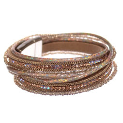 Hot Tomato Jewellery Multi Wrap Golden Bracelet