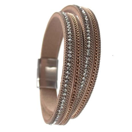 Hot Tomato Jewellery Gold Double Wrap Bracelet