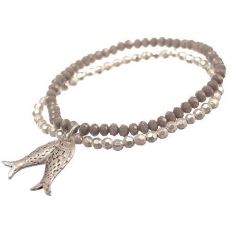 Hot Tomato Jewellery Silver Fish Charm Bracelet