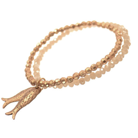 Hot Tomato Jewellery Gold Fish Charm Bracelet