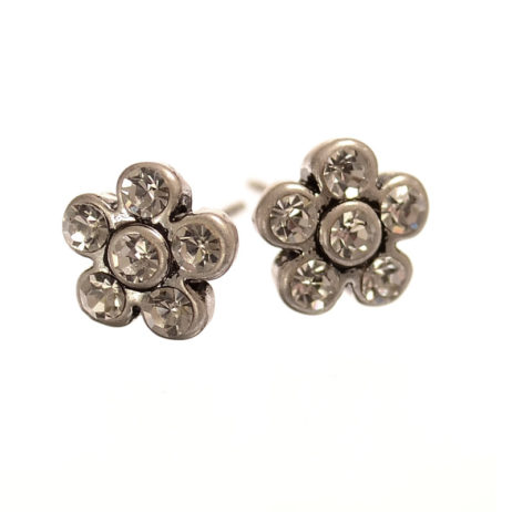 Hot Tomato Jewellery Silver Flower Earrings