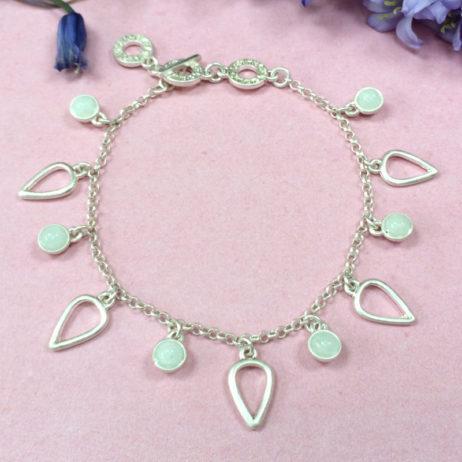Sence Copenhagen Silver Summer Rain Bracelet with Aquamarine