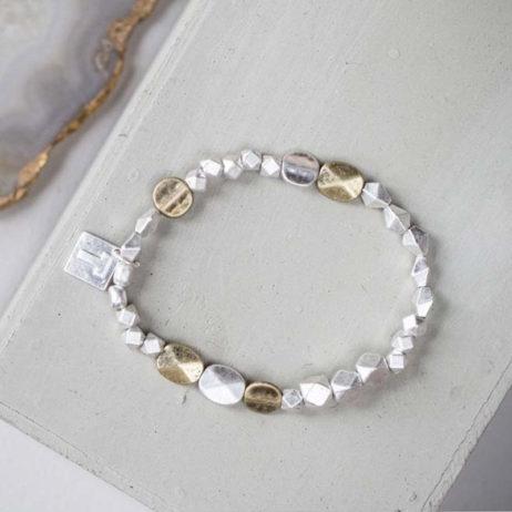 Tutti and Co Jewellery Stephanie Mixed Bead Stretch Bracelet