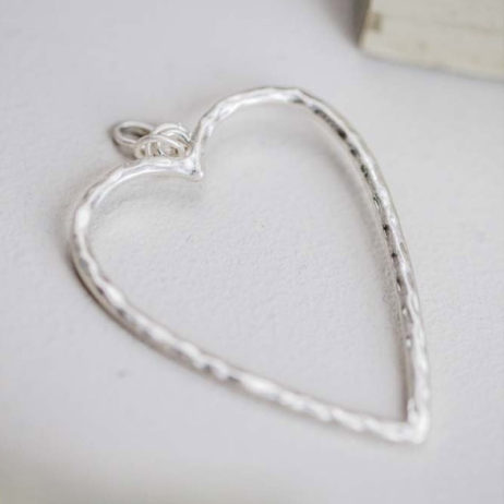 Tutti and Co Jewellery Boe Silver Open Heart Charm