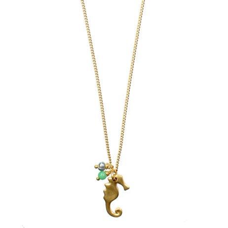 Hultquist Jewellery Gold Seahorse Short Necklace