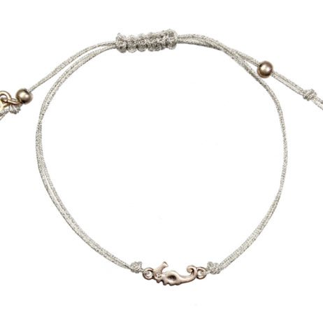 Hultquist Jewellery Rose Gold Seahorse Macrame Bracelet with Crystal