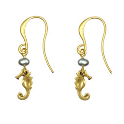 Hultquist Jewellery Gold Seahorse Earrings