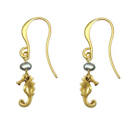 Hultquist Jewellery Gold Seahorse Earrings