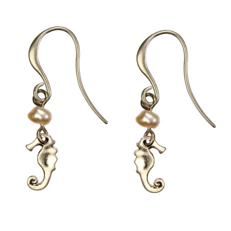Hultquist Jewellery Rose Gold Seahorse Earrings