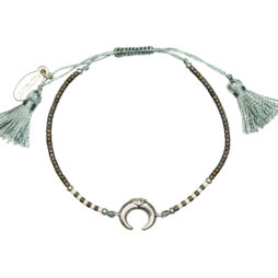 Hultquist Jewellery Soul Safari Silver Horn Bracelet with Crystals