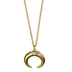 Hultquist Jewellery Soul Safari Gold Horn Necklace with Crystals