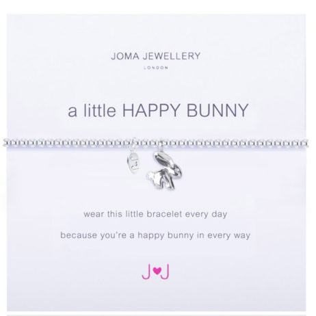 Joma Jewellery a little Happy Bunny Silver Bracelet