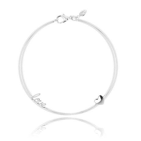 Joma Jewellery Maddi Silver Love Heart Bracelet 1394 EOL