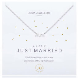 Joma Jewellery a little Just Married Silver Plated Necklace 1775