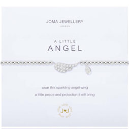 Joma Jewellery a little Pave Angel Wing Silver Bracelet