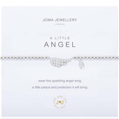 Joma Jewellery a little Pave Angel Wing Silver Bracelet