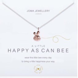 Joma Jewellery a little Happy As Can Bee Necklace Silver with Rose Gold 1858