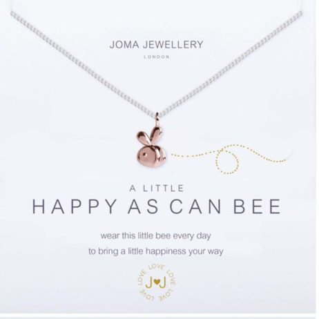 Joma Jewellery a little Happy As Can Bee Necklace Silver with Rose Gold